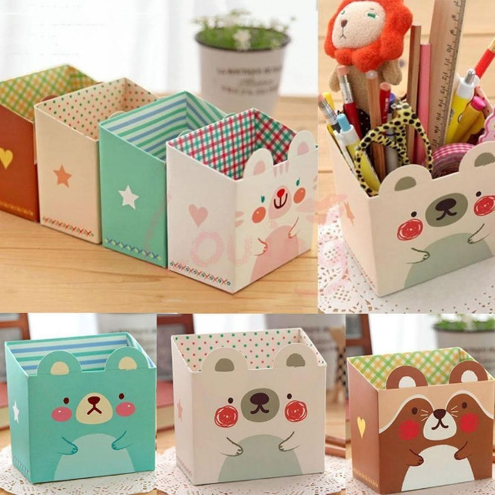 Stationery Makeup Cosmetic Organizer Diy Paper Board