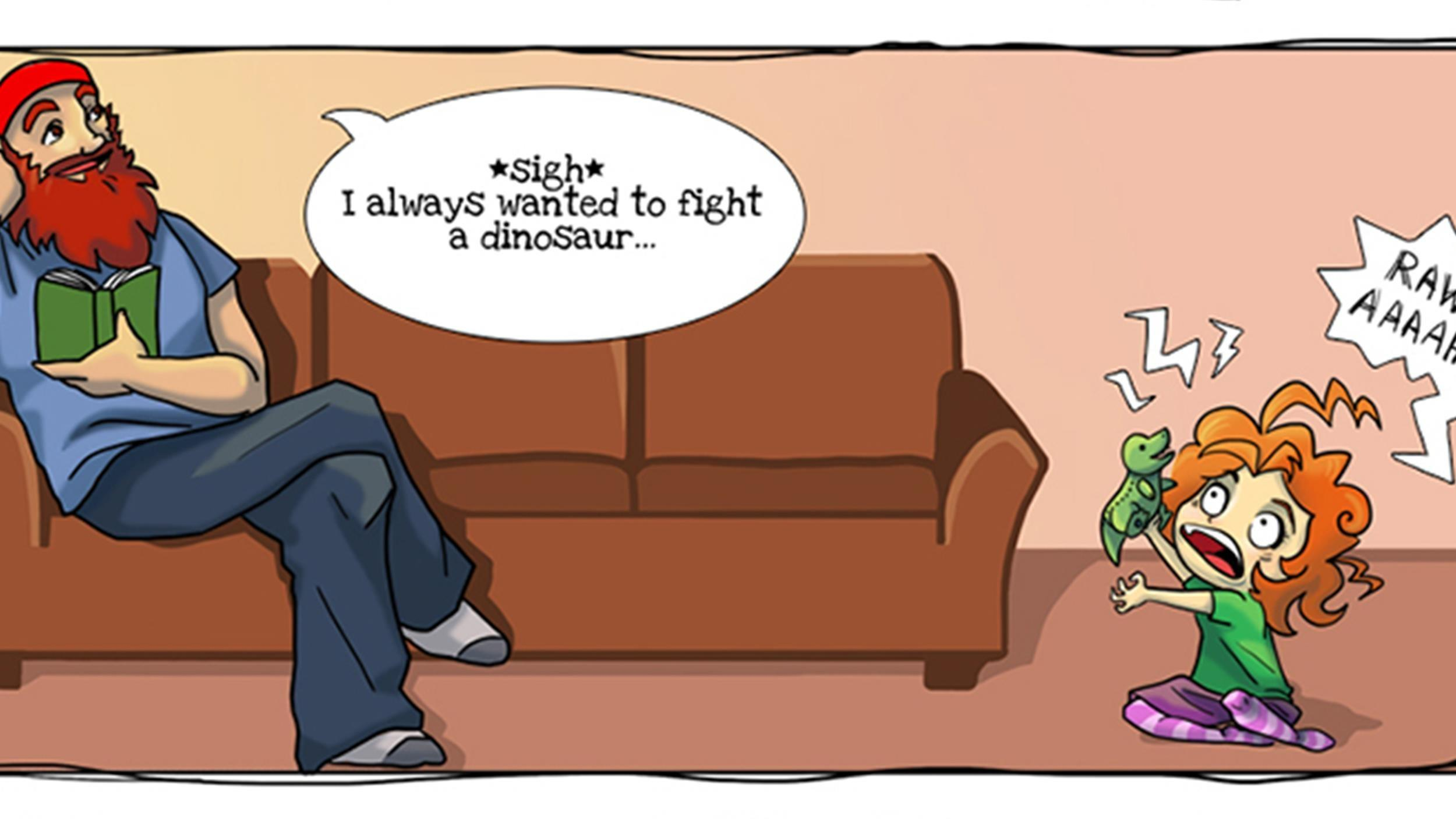 Stay Home Dad Creates Comics Inspired Daughter
