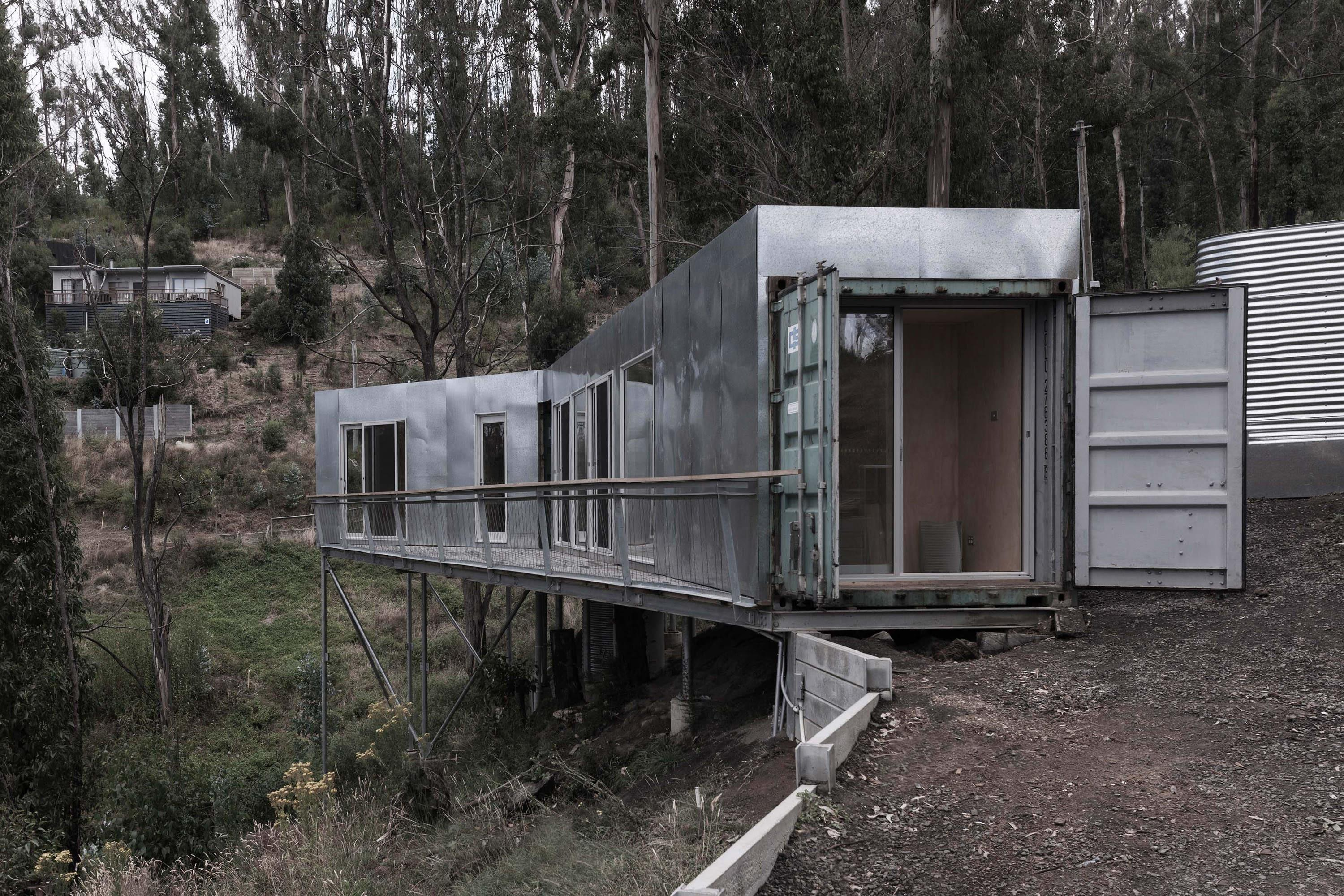 Stay Shipping Container Holiday Home Built Into
