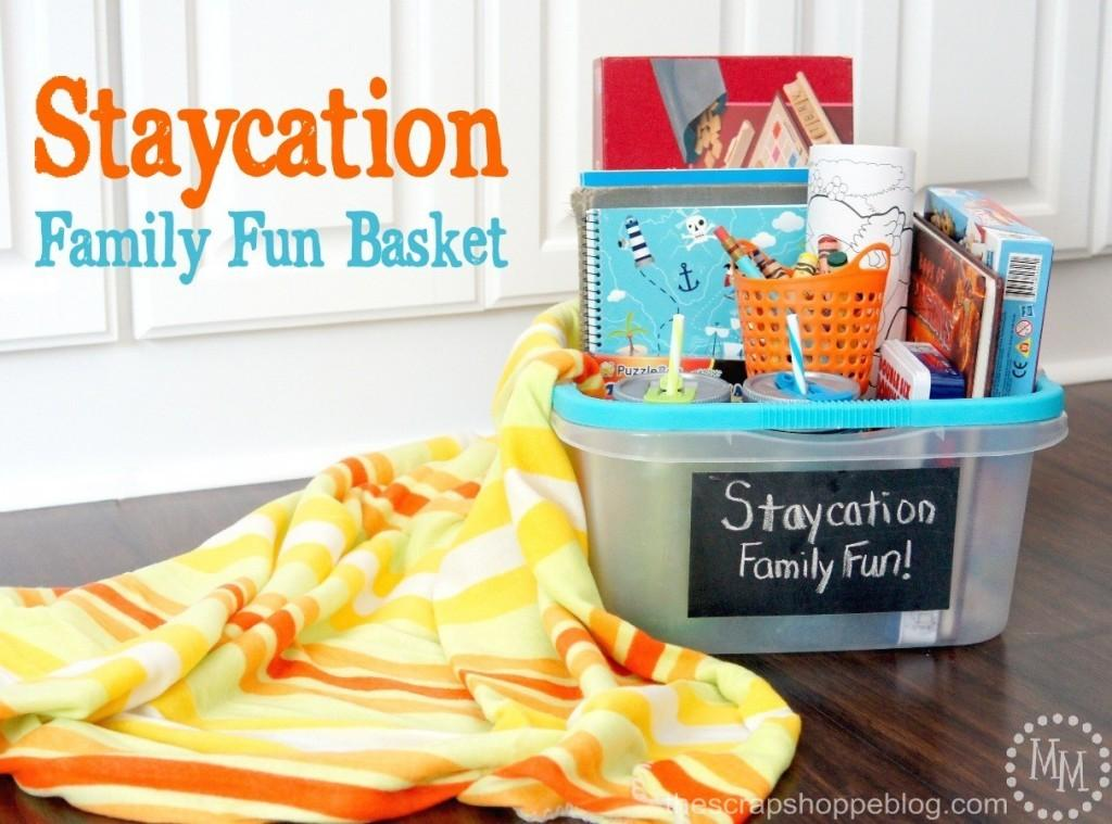 Staycation Family Fun Basket Scrap Shoppe