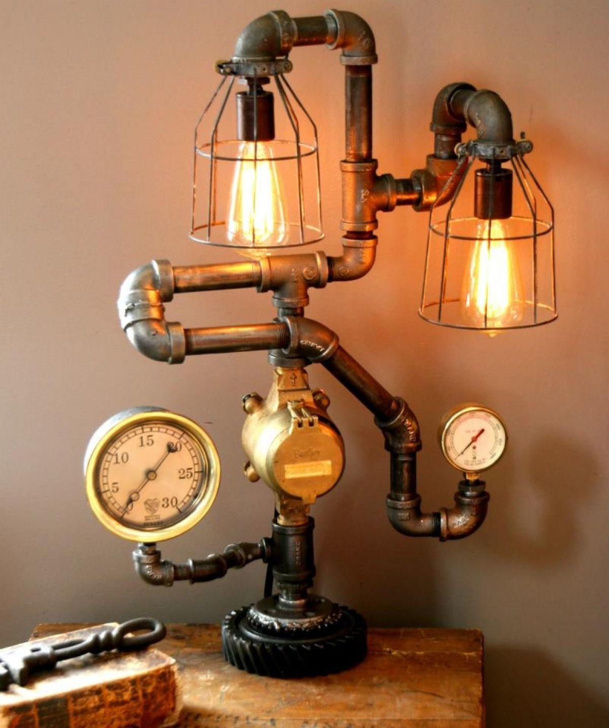 Steampunk Lamps Ways Add Touch Vintage