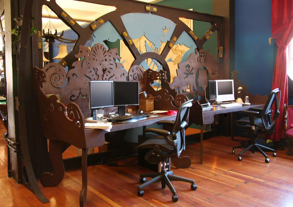 Steampunk Office Interior Design Fabrication Because
