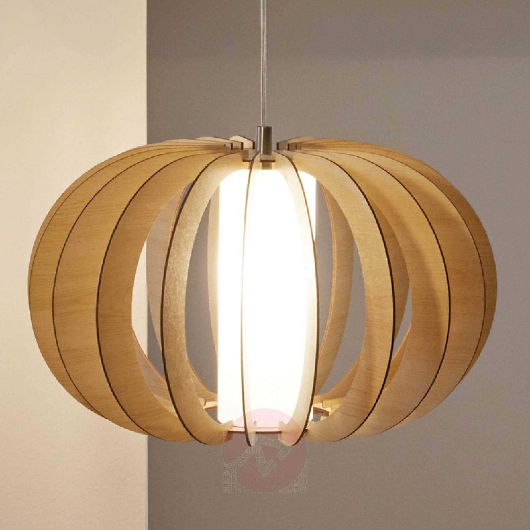 Stellato Round Slatted Wood Pendant Light New Arrivals