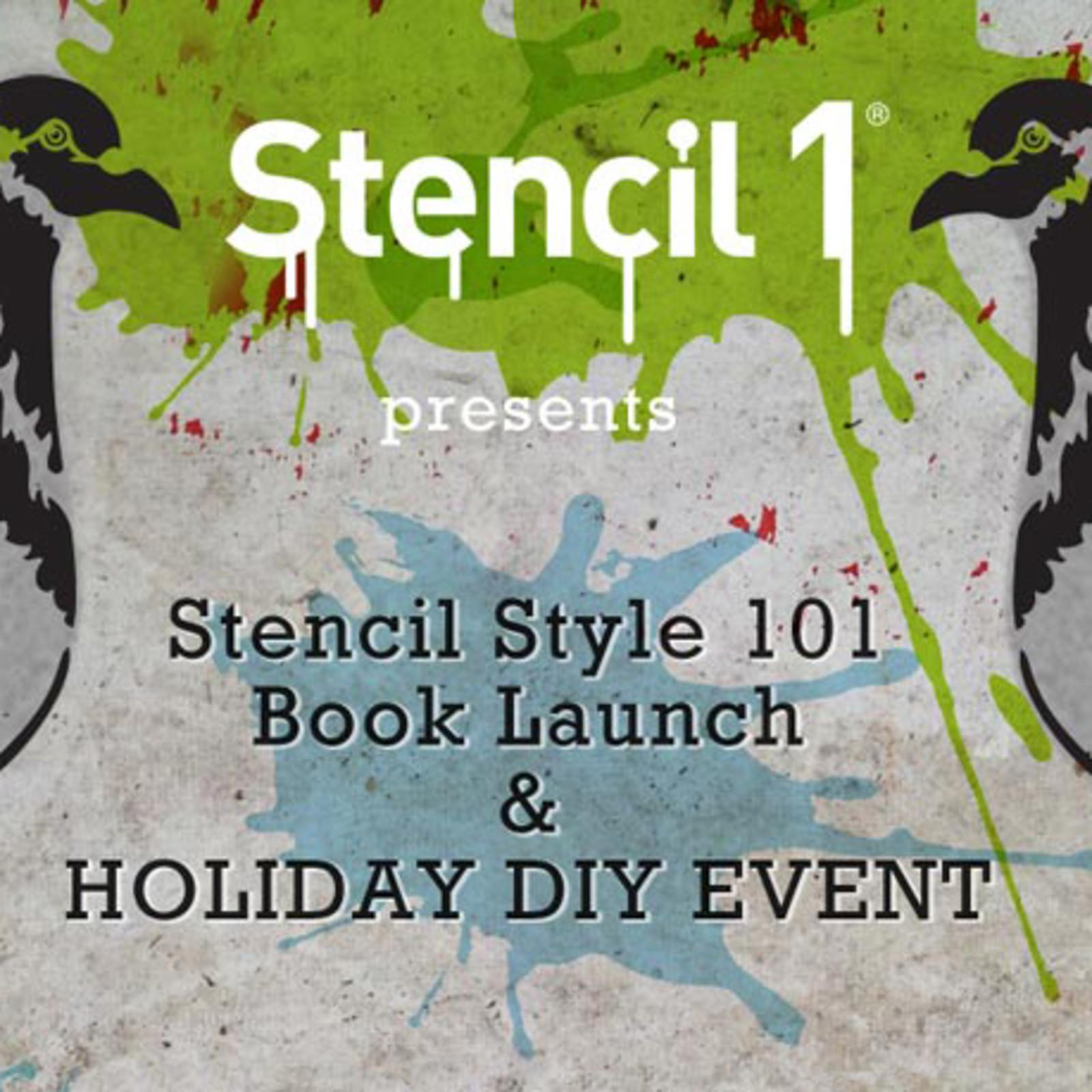 Stencil Style 101 Book Launch Holiday Diy Event Cool