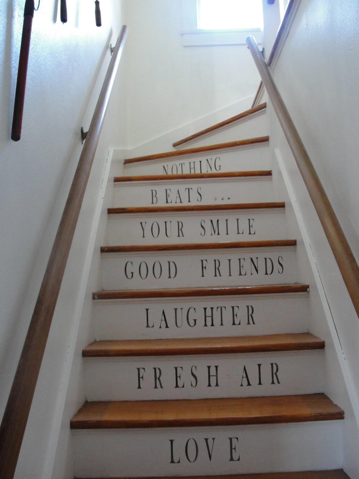 Stenciled Staircases