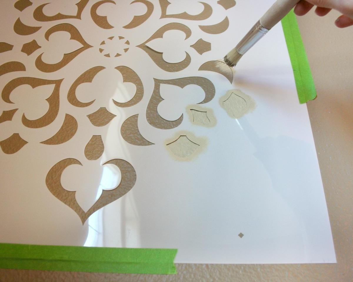 Stencils Painting Glass Sophisticated