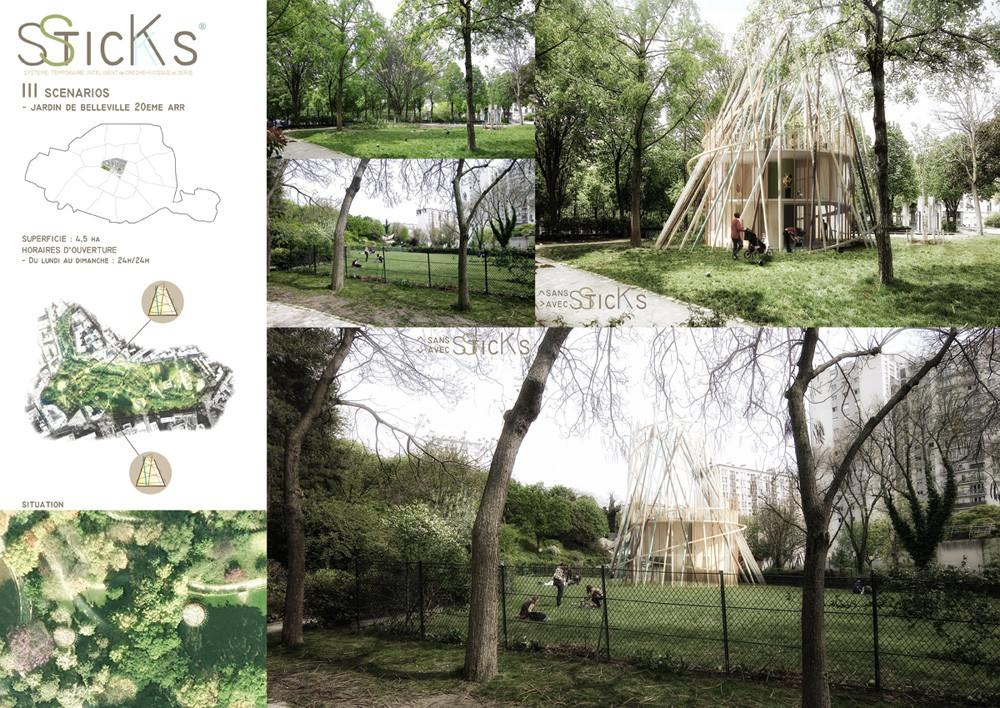 Sticks Concept Urban Wooden Modular Eco Sustainable