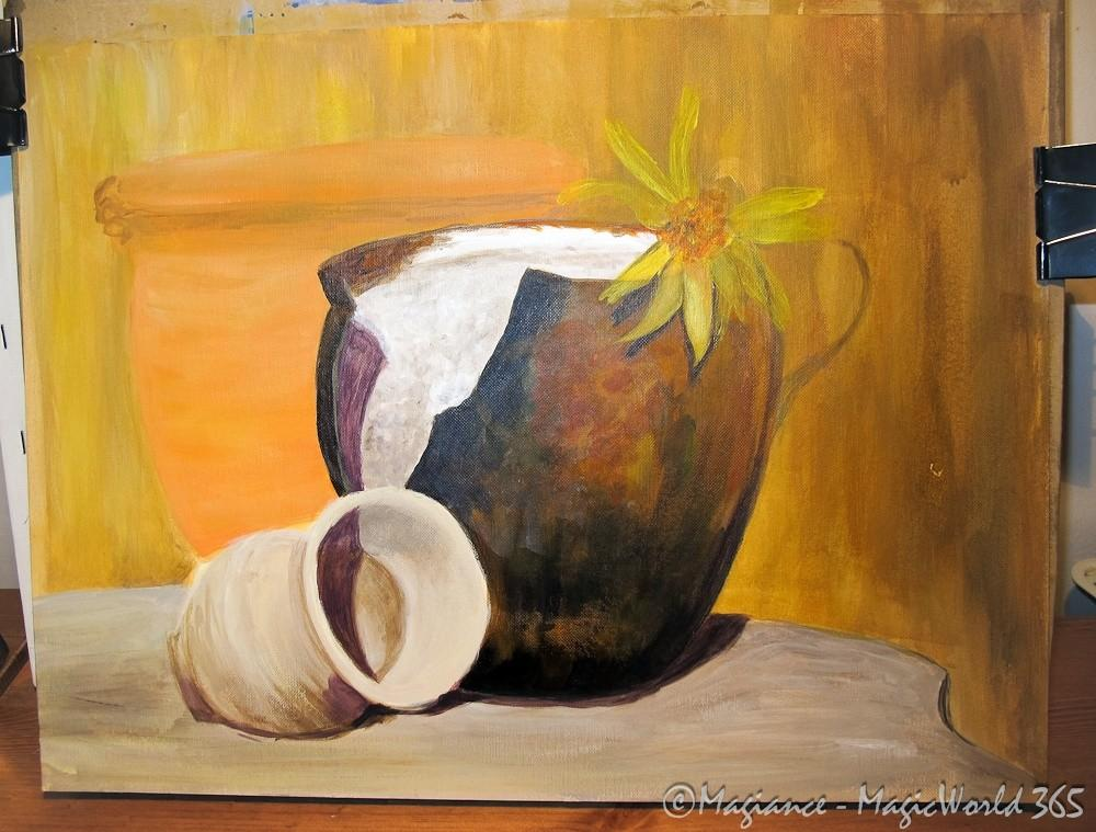 Still Life Acrylic Painting Wip Magiance Photography
