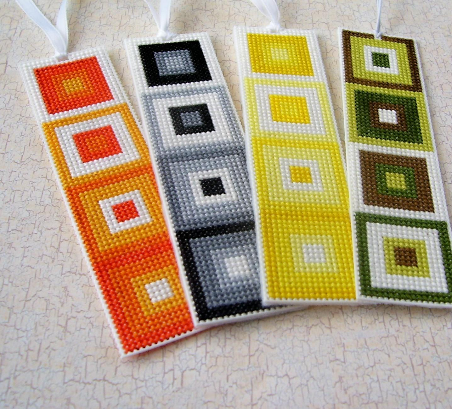 Stitchnmomma First Cross Stitched Bookmarks