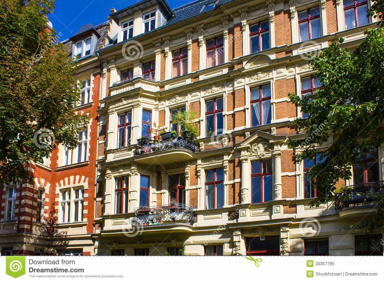 Stock Berlin Historic Apartment House