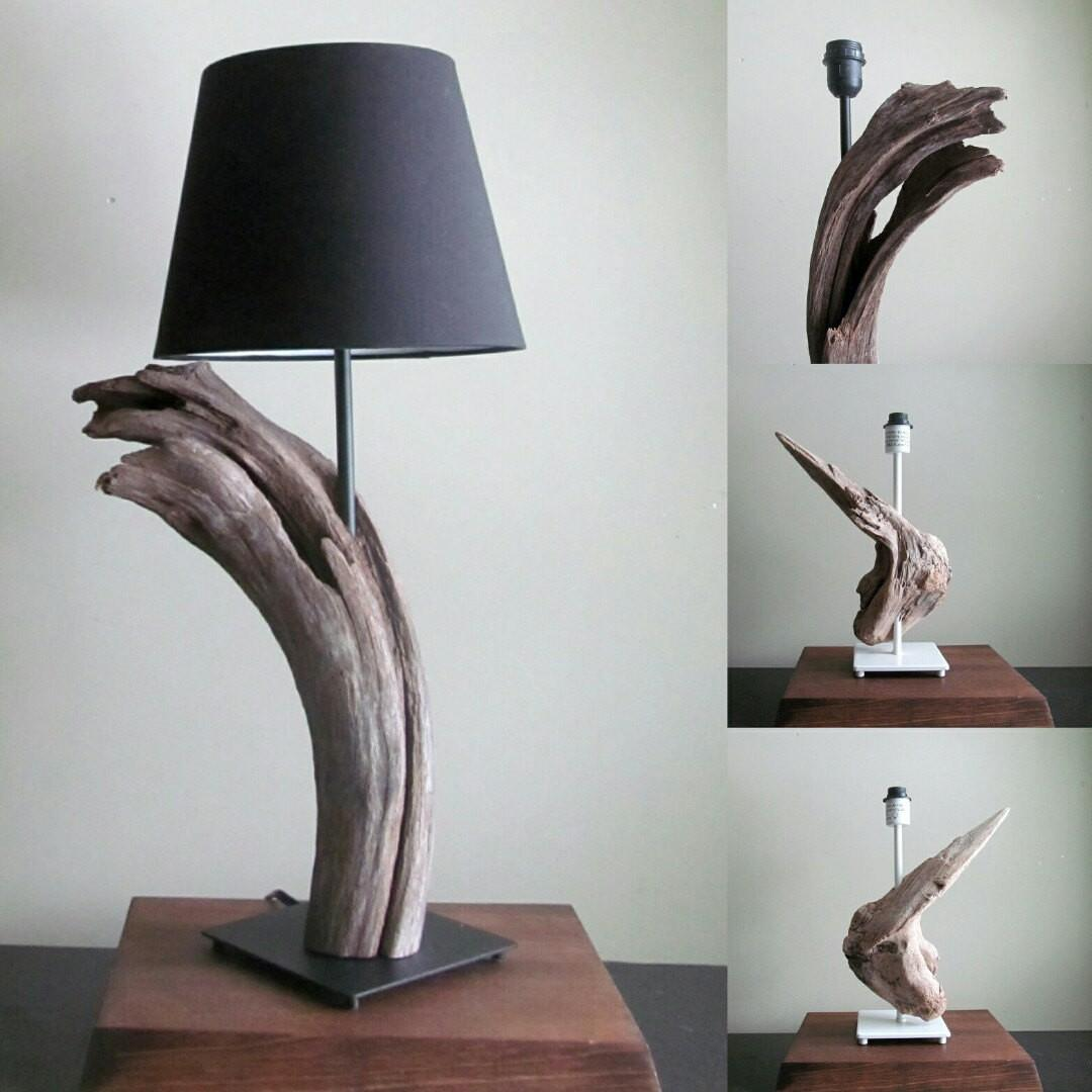 Stock Driftwood Table Lamp