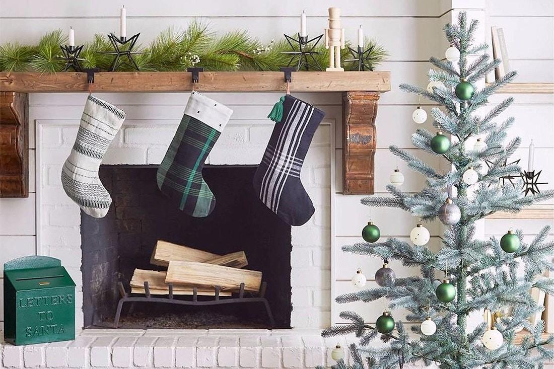 Stocking Hanging Ideas Fireplace Apartment Therapy