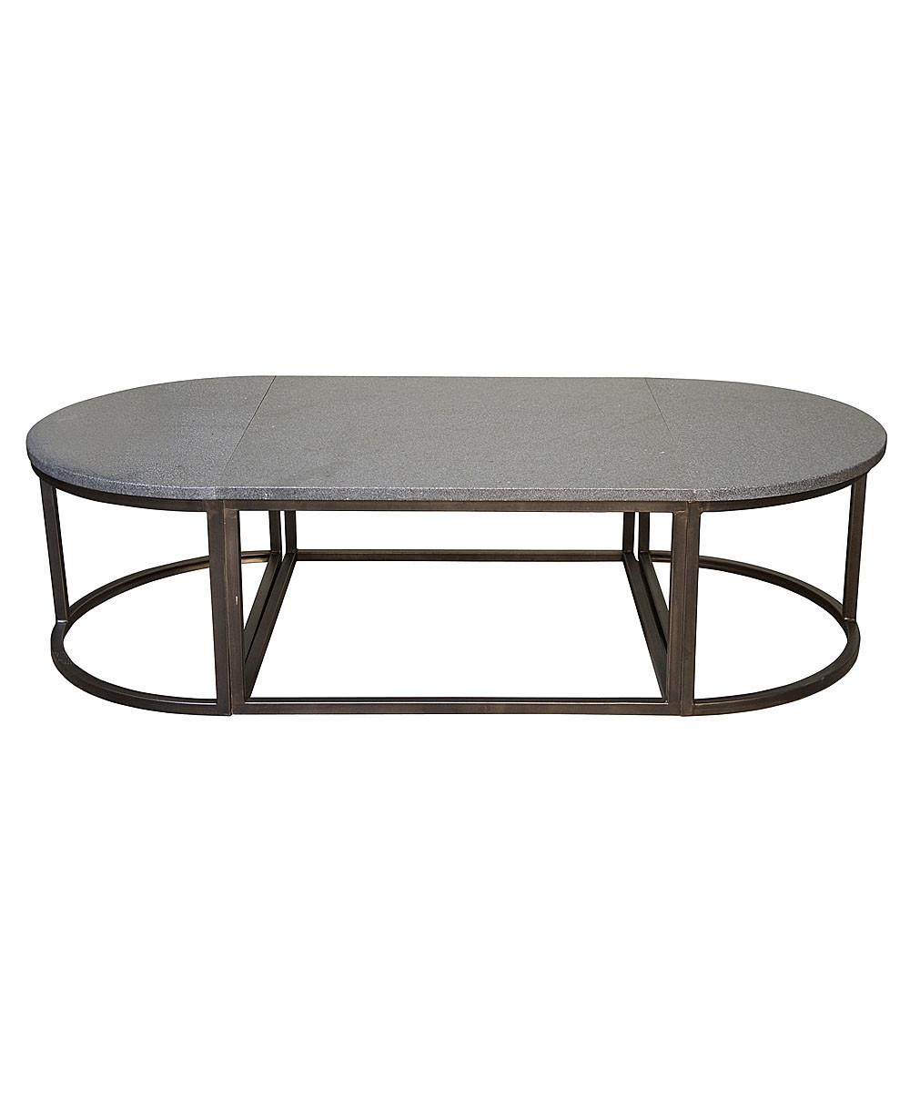 Stone Coffee Table Reflex Natural Atmosphere Inside Room