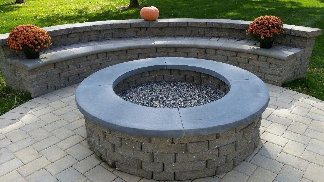 Stone Fire Pits Type Med Art Home Design Posters