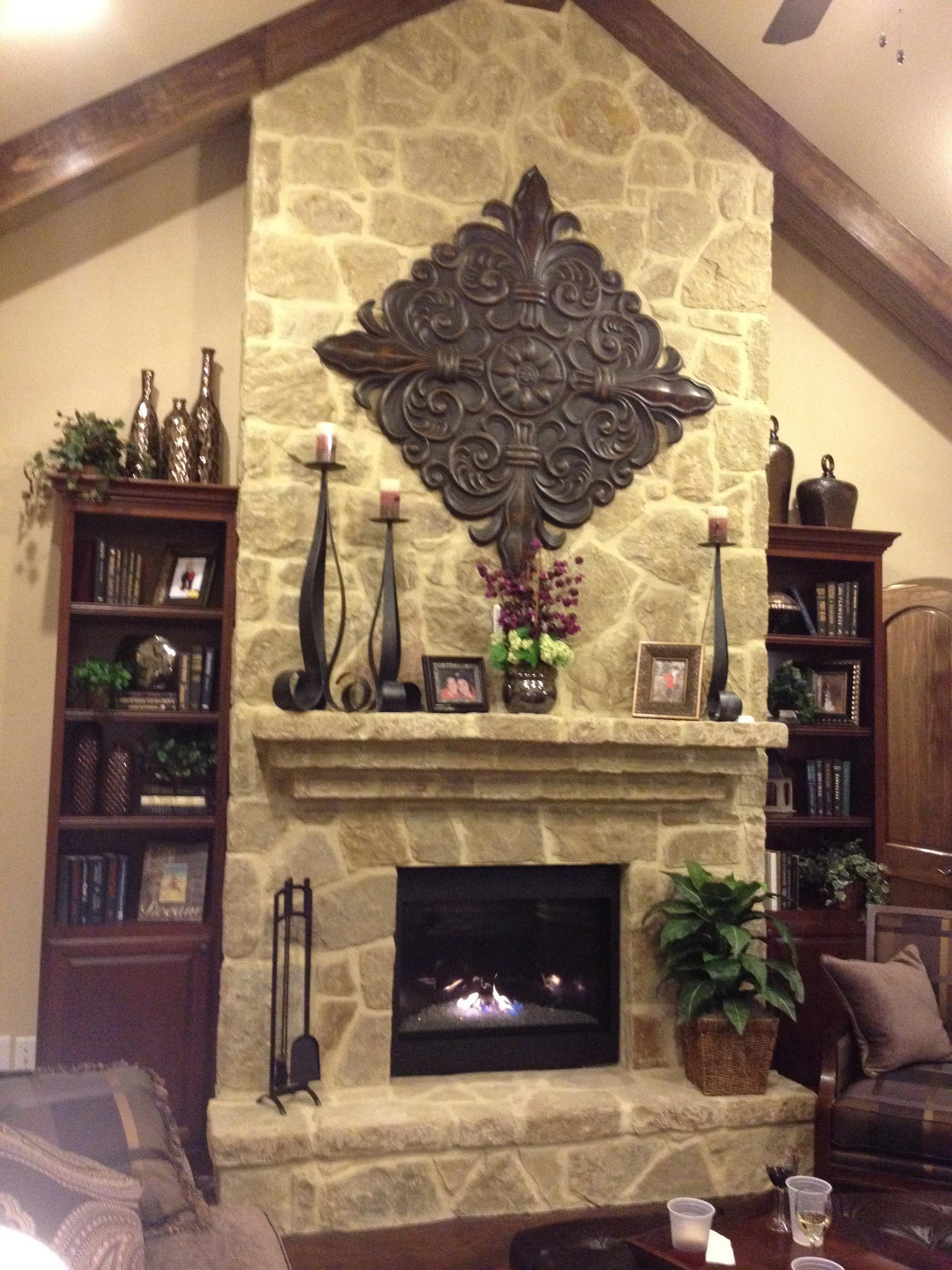 Stone Fireplace Mantel Decorating Ideas Best Home