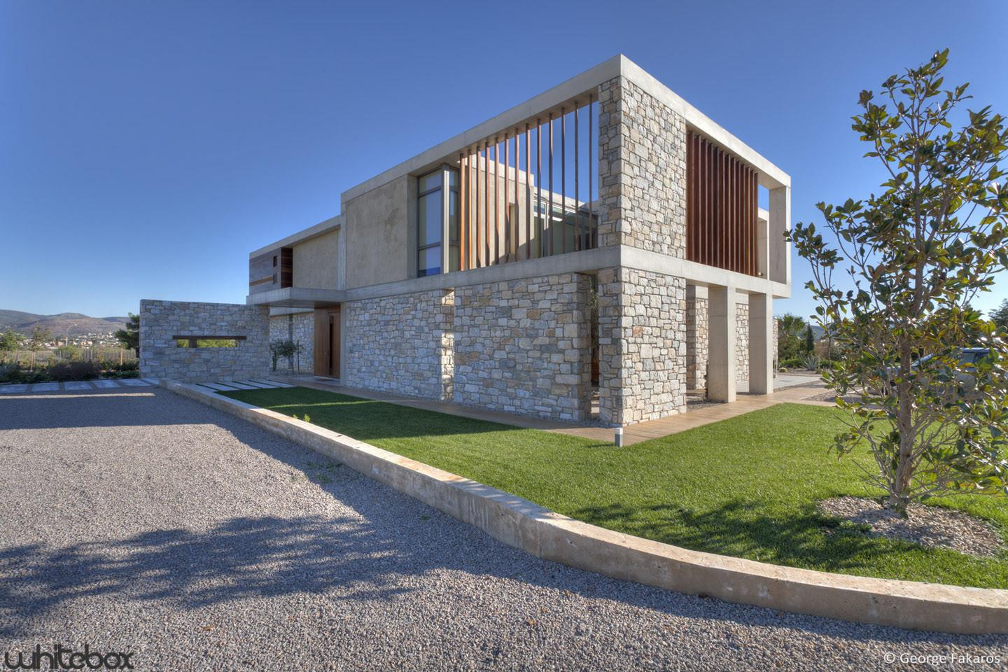 Stone House Anavissos Whitebox Architects Archdaily