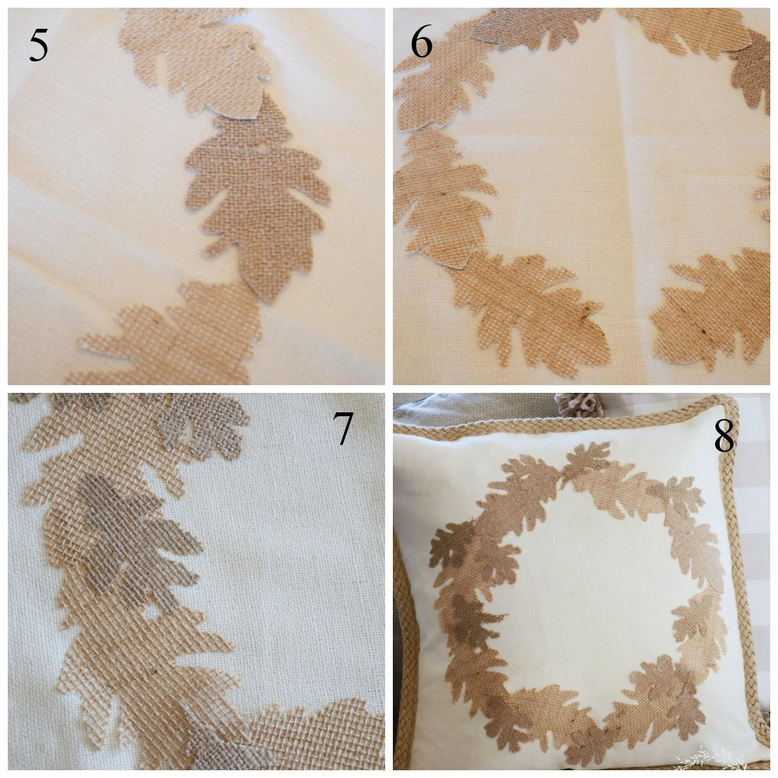Stonegable Fall Sew Burlap Leaf Pillow Diy