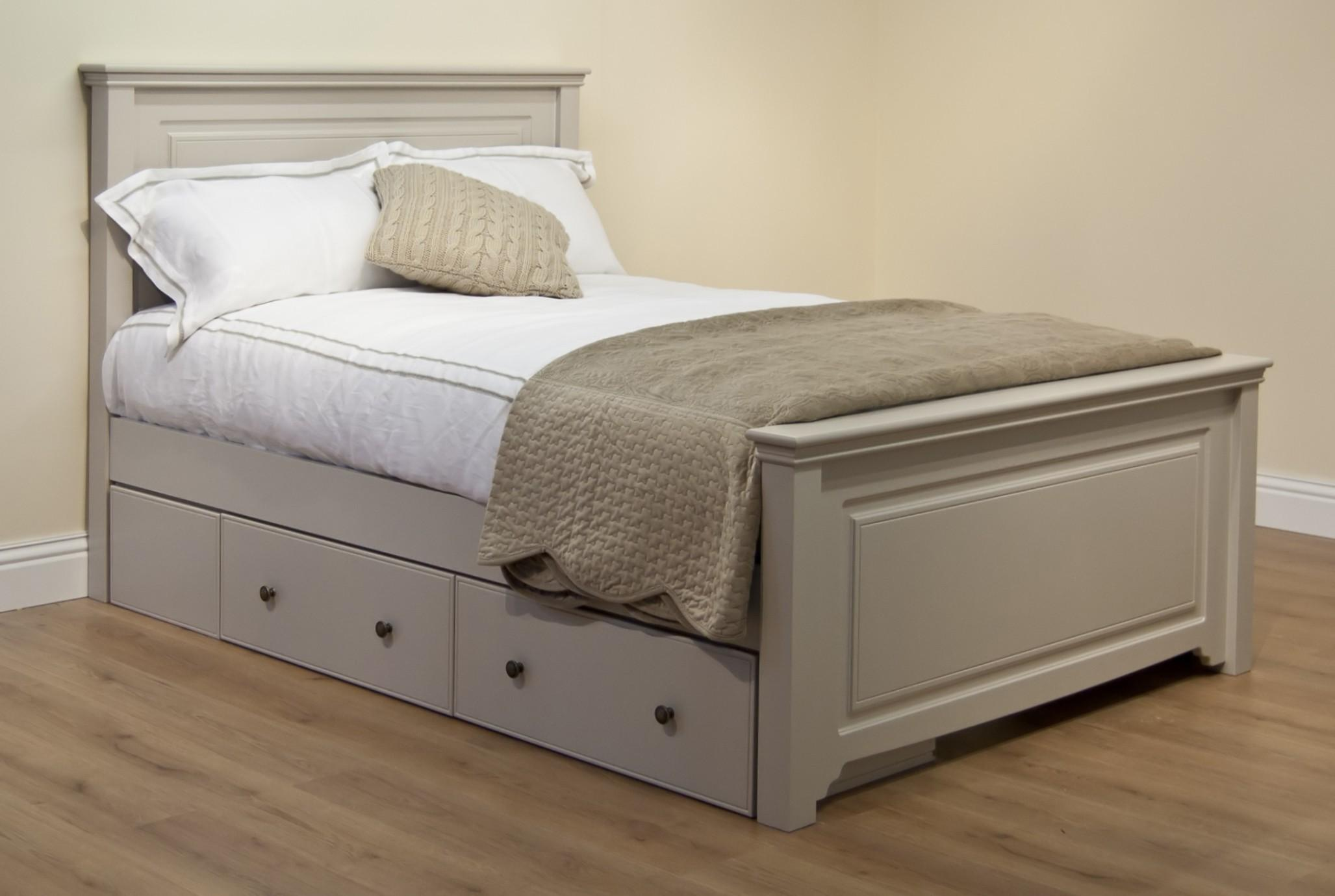 Storage Beds Double Faith Bed Grey