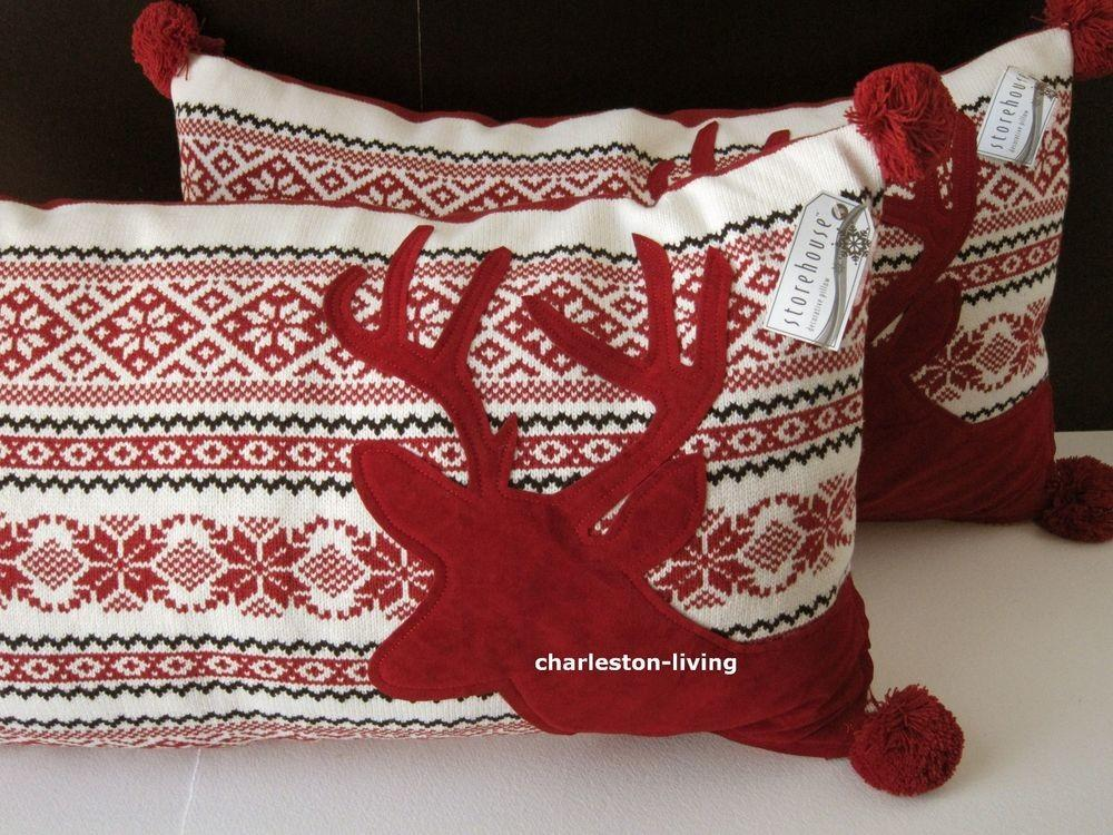 Storehouse Sweater Holiday Christmas Decorative Pillow