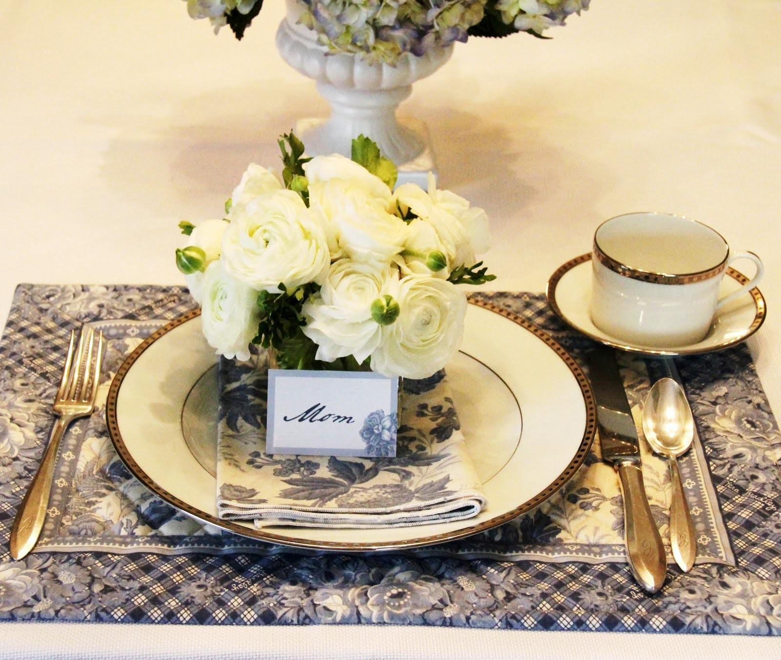 Stranded Cleveland Mother Day Table Cor Blue