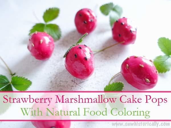 Strawberry Marshmallow Cake Pops Natural Food