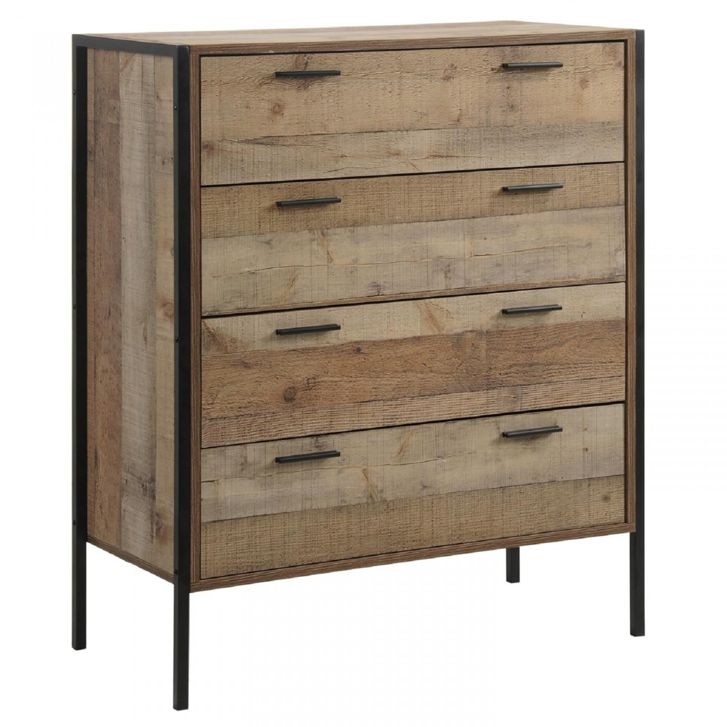 Stretton Rustic Industrial Chest Drawers