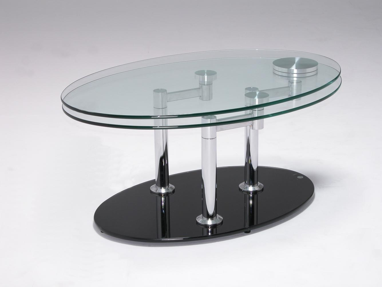 Striking Designs Modern Glass Top Coffee Table