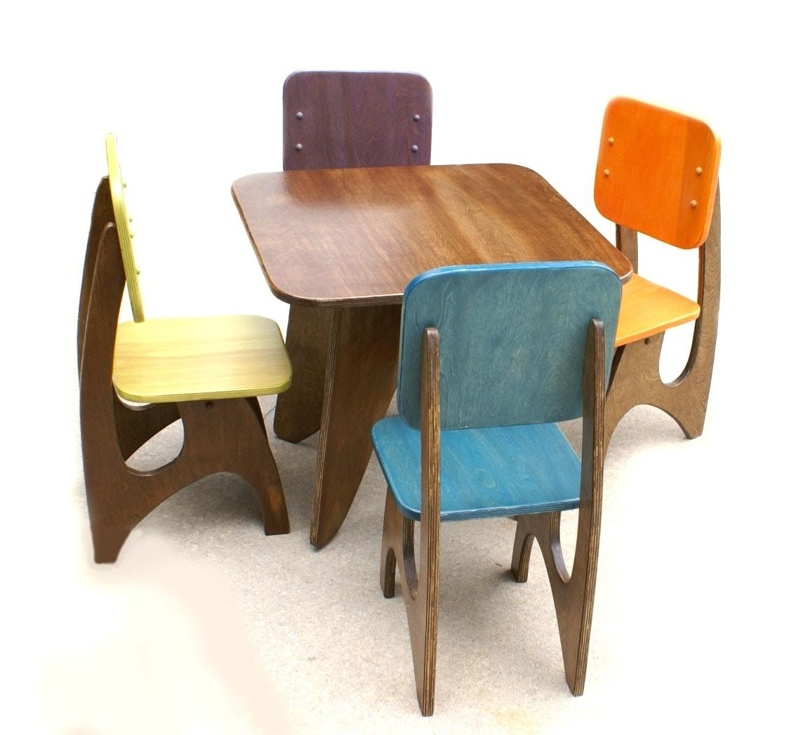 Strikingly Ideas Childrens Wooden Table Chair Set