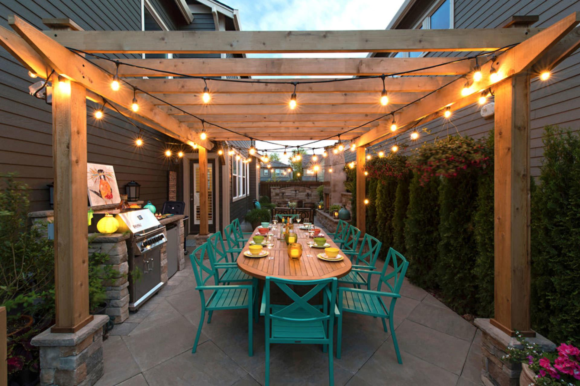 String Lights Pergola Lighting Ideas