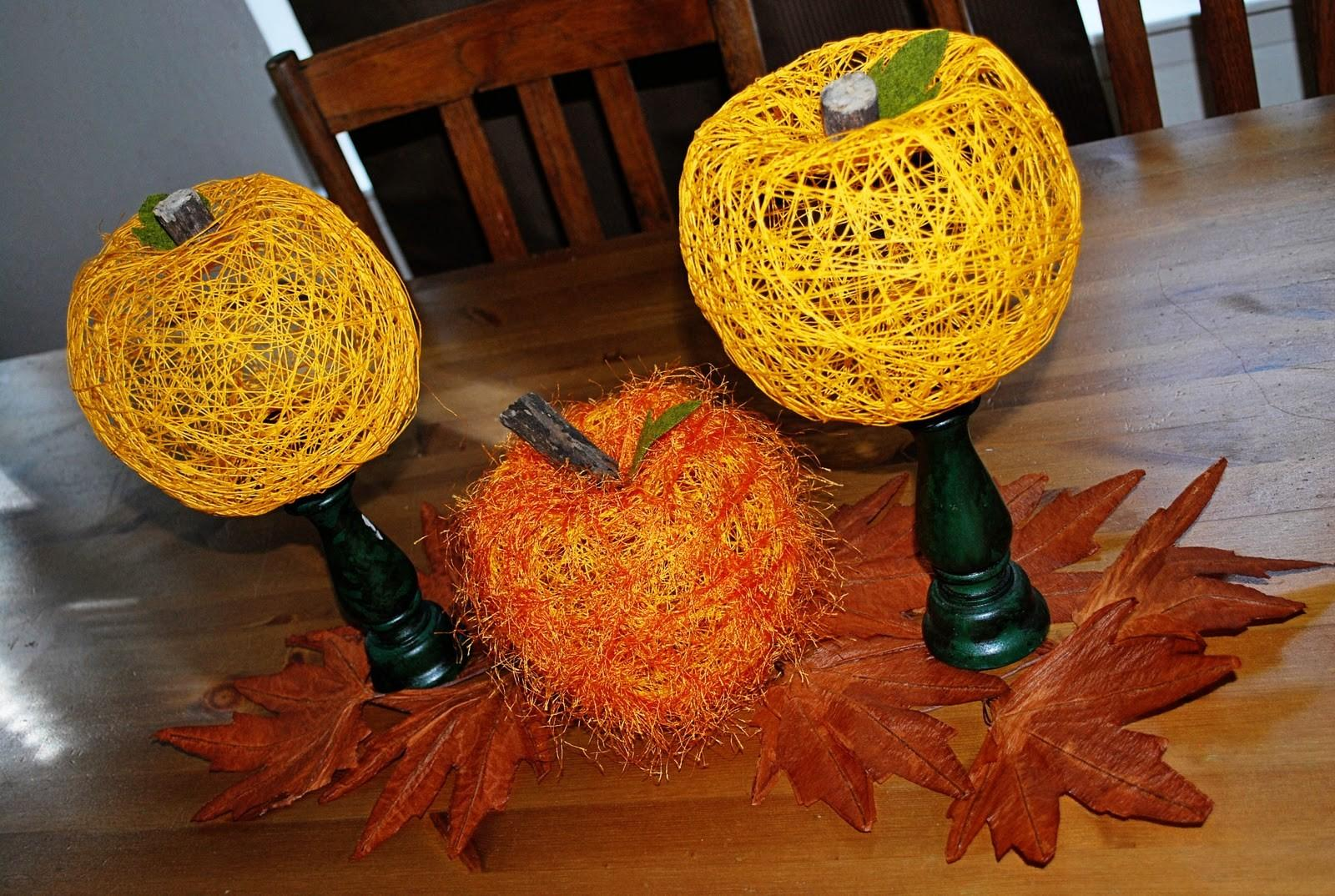 String Pumpkins Tutorial Clumsy Crafter