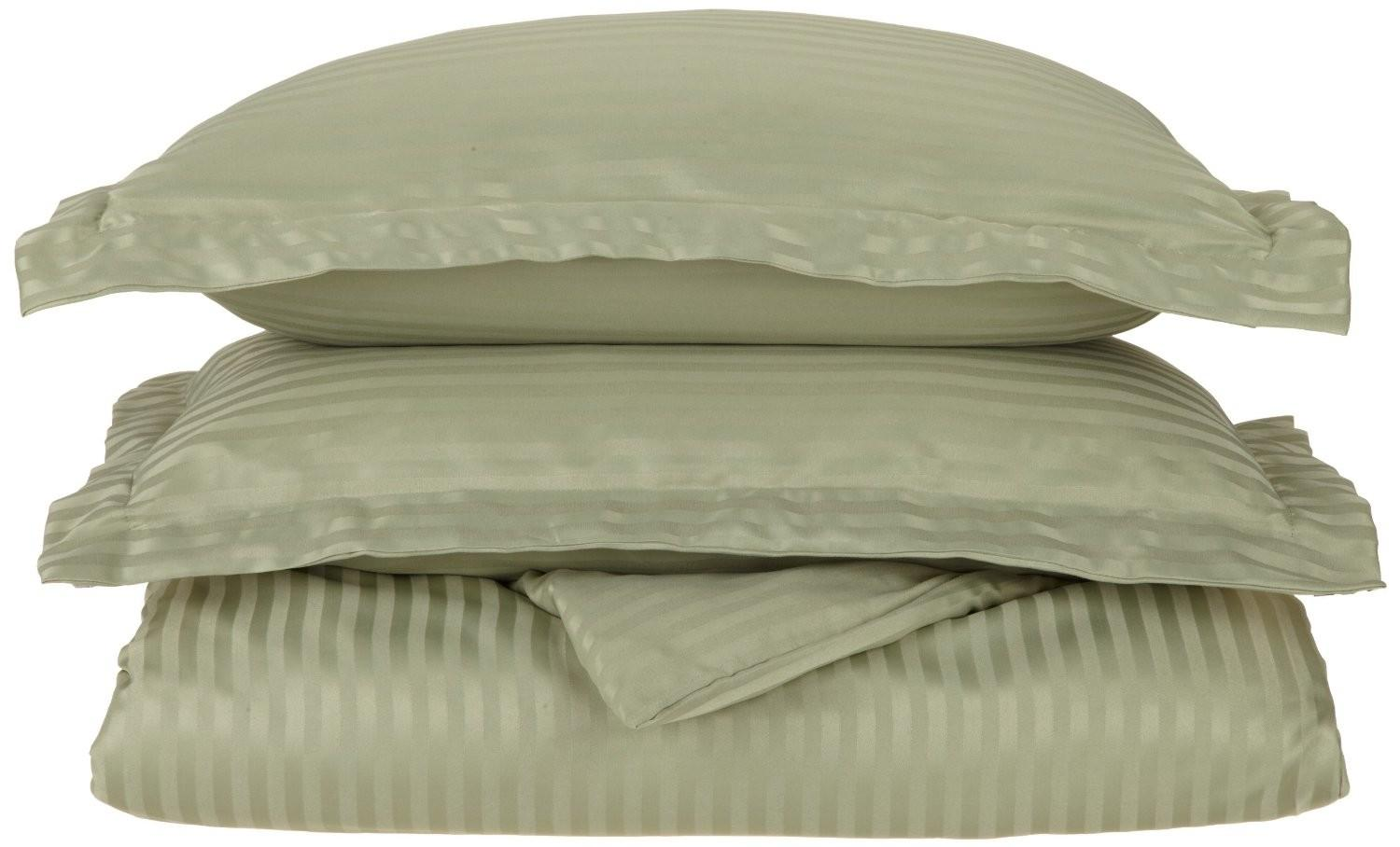 Striped Duvet Cover Set Shams Wrinkle