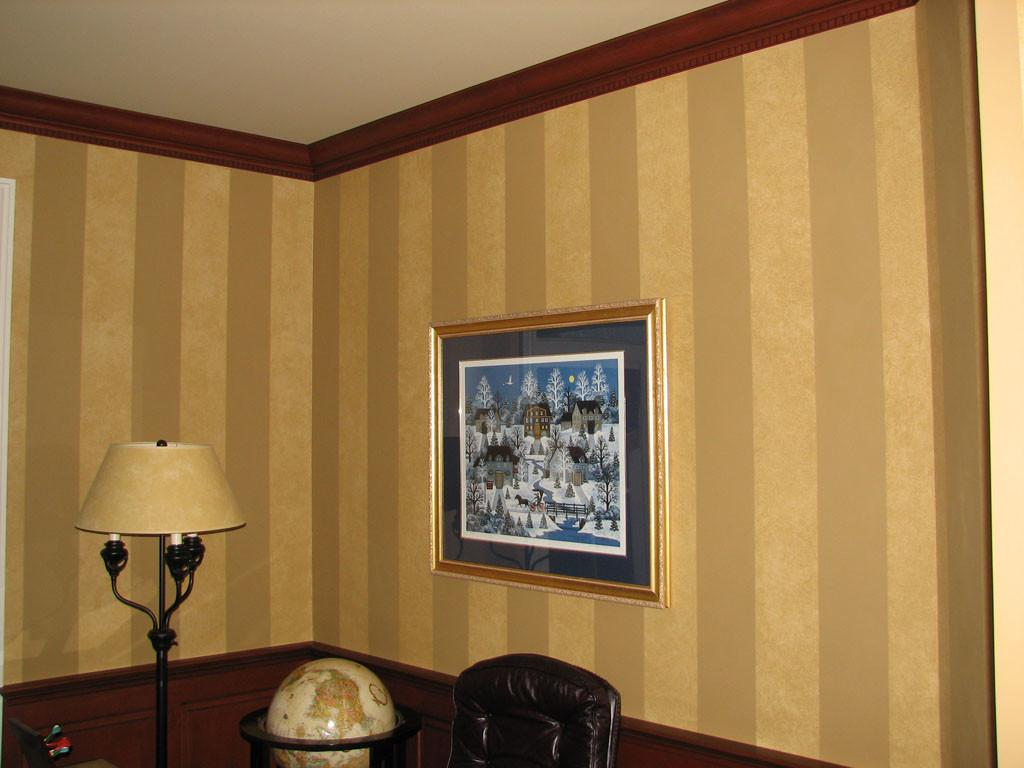 Striped Walls Home Office Martin Zeiser Painted