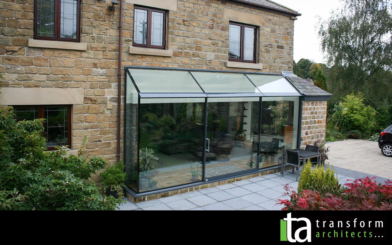 Structural Glass Extension Roof Transform