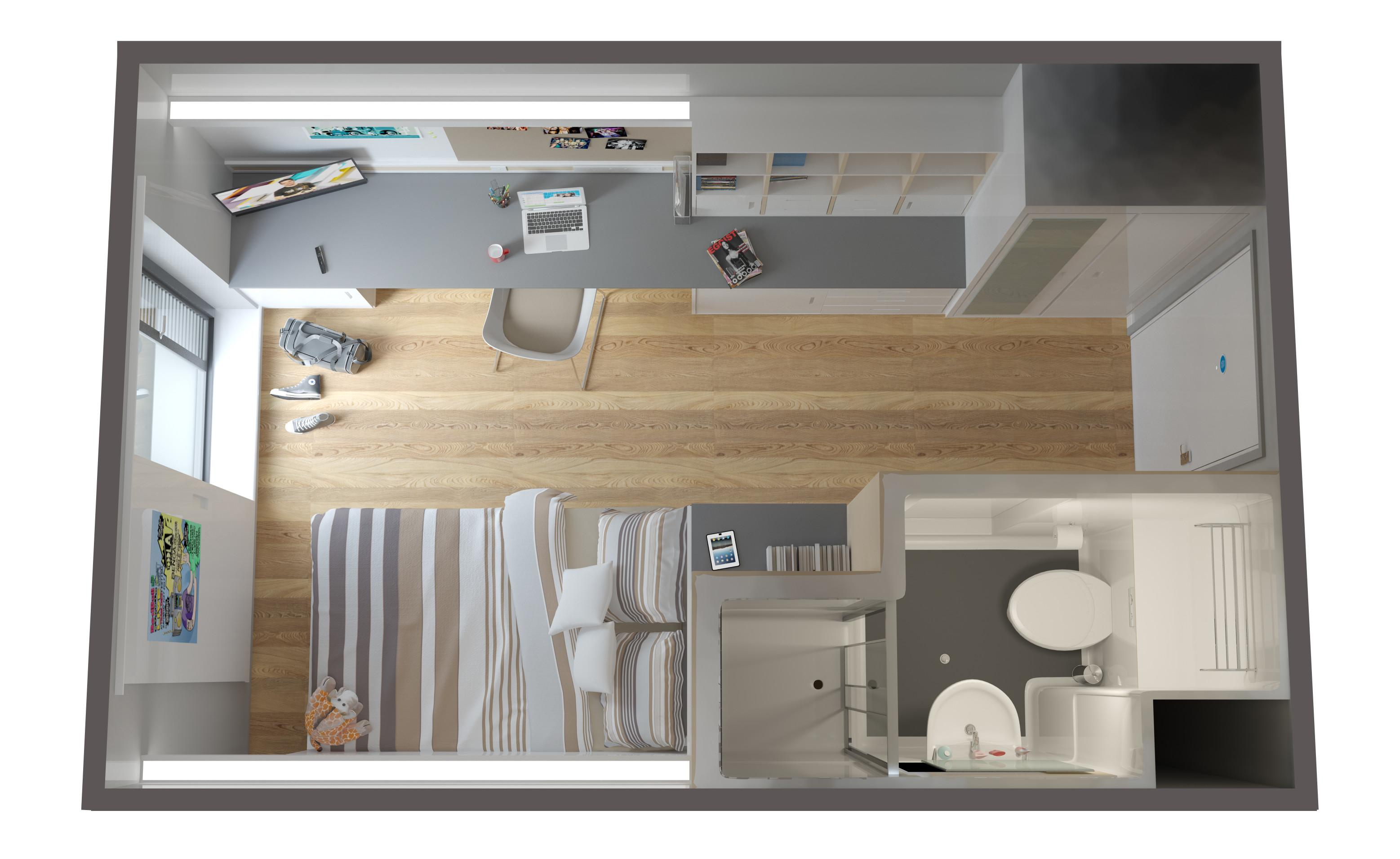 Student Living Design 2015 Nick Riley Perspective