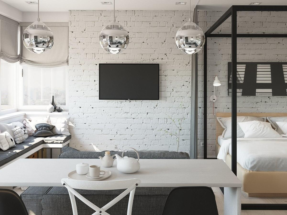 Studio Apartment Interior Design Cute Decorating