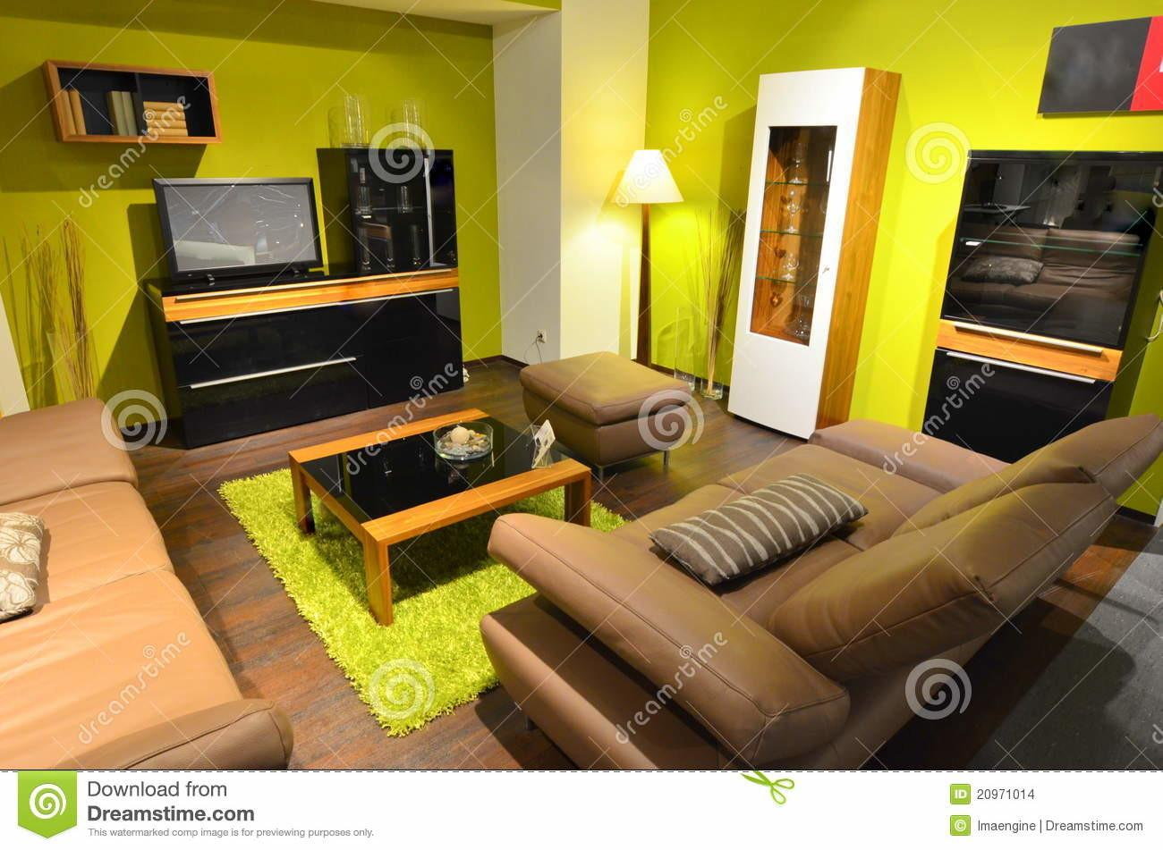 Studio Apartment Living Room Area Stock