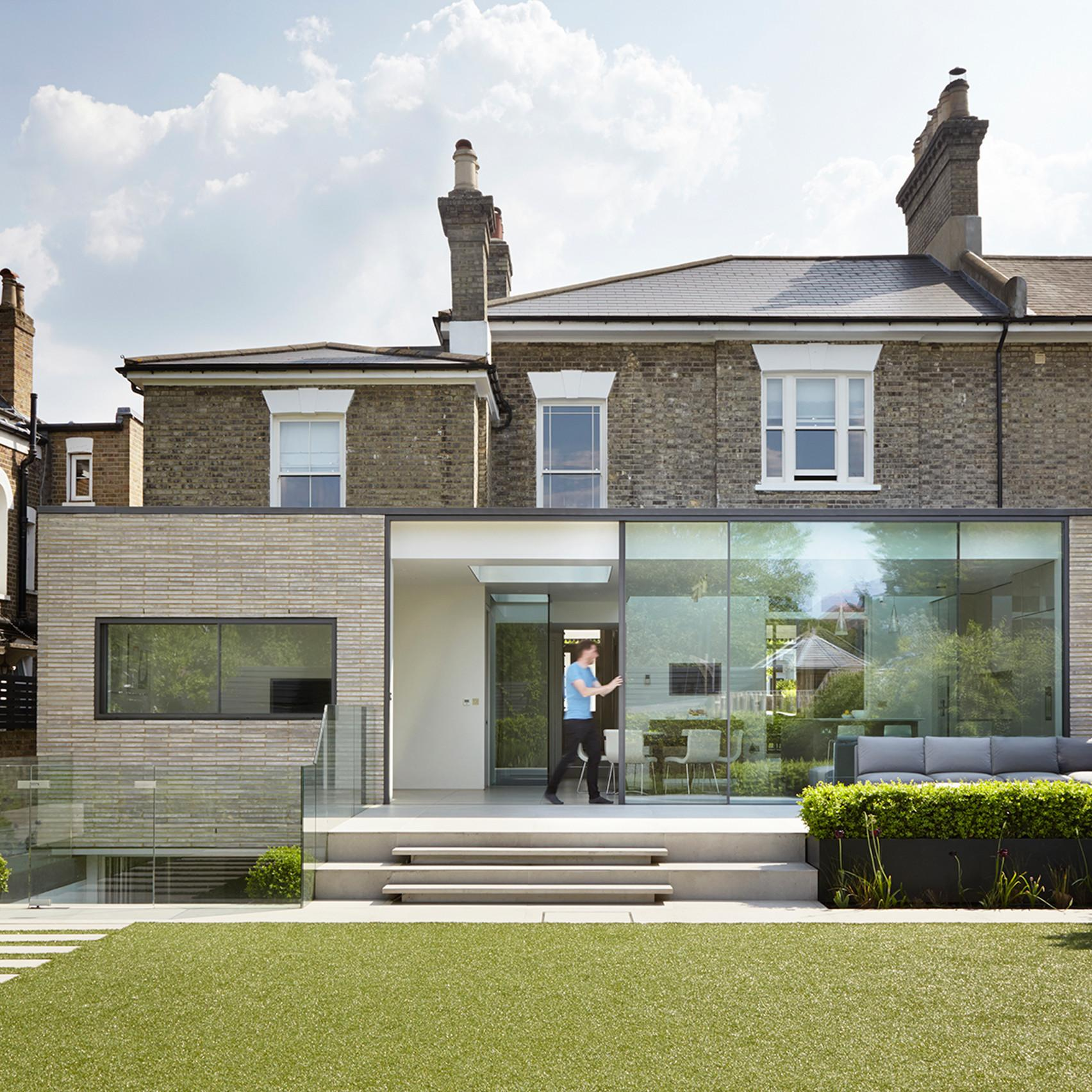 Studio Octopi Adds Glass Fronted Extension White Lodge