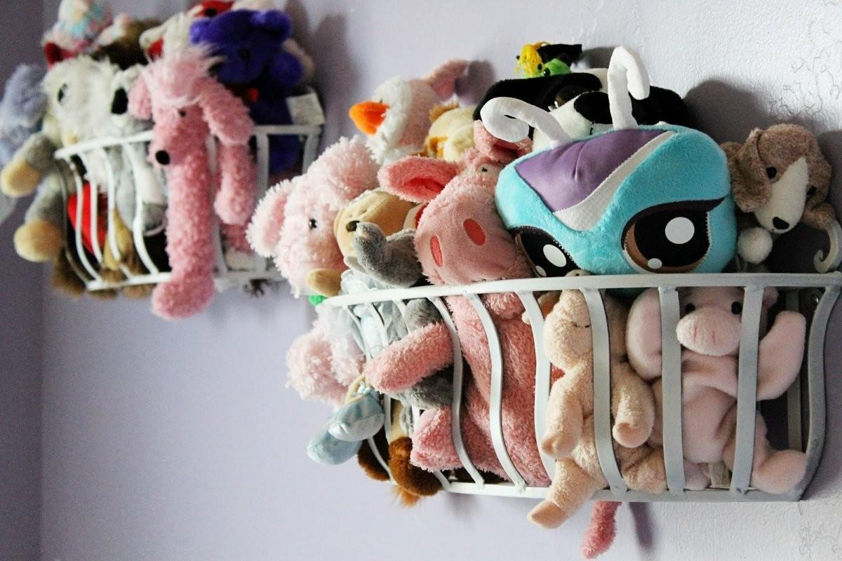 Stuffed Animal Storage Ideas Wall Mounted Toy
