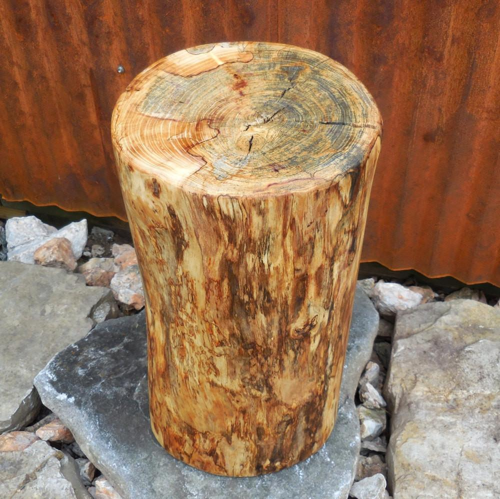 Stump Table Reclaimed Wood Rustic Side