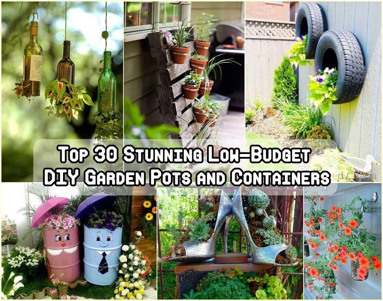 Stunning Low Budget Diy Garden Pots Container Ideas