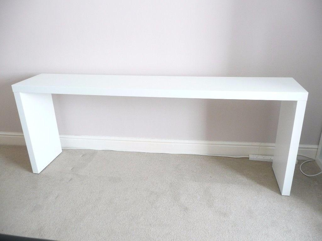 Stunning Malm Console Table Black