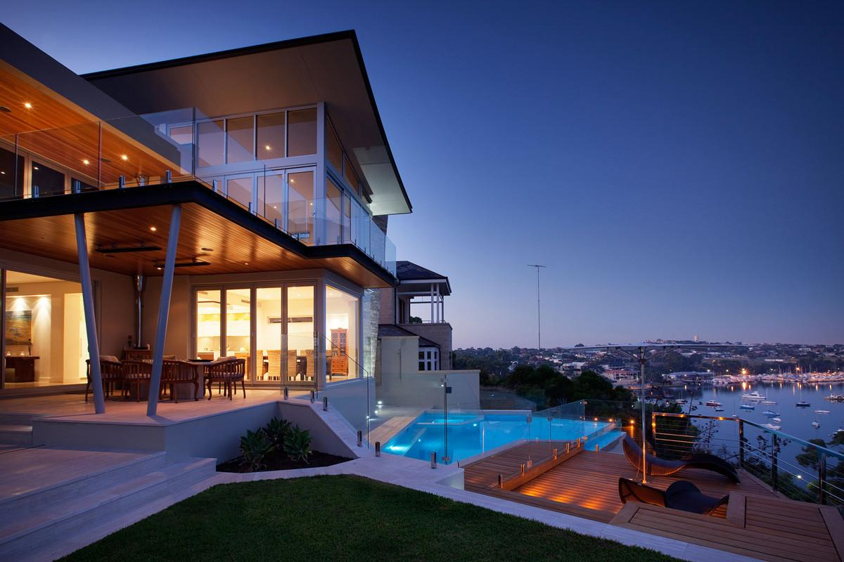 Stunning Outdoor Living Area Bicton House Perth Australia