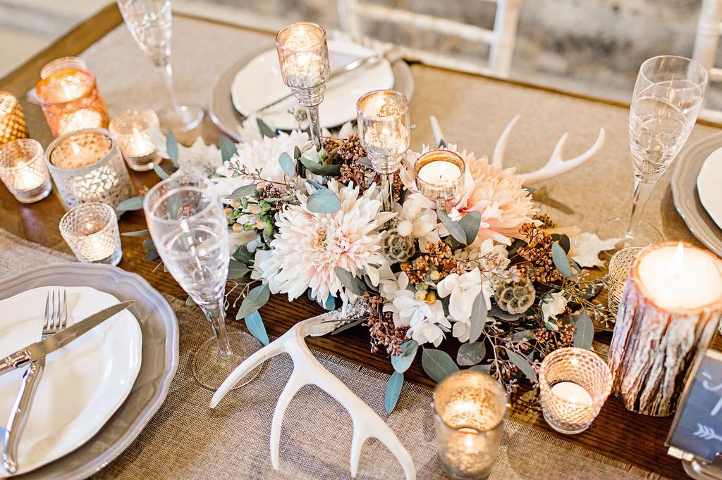 Stunning Rustic Luxe Inspired Winter Wedding Styled
