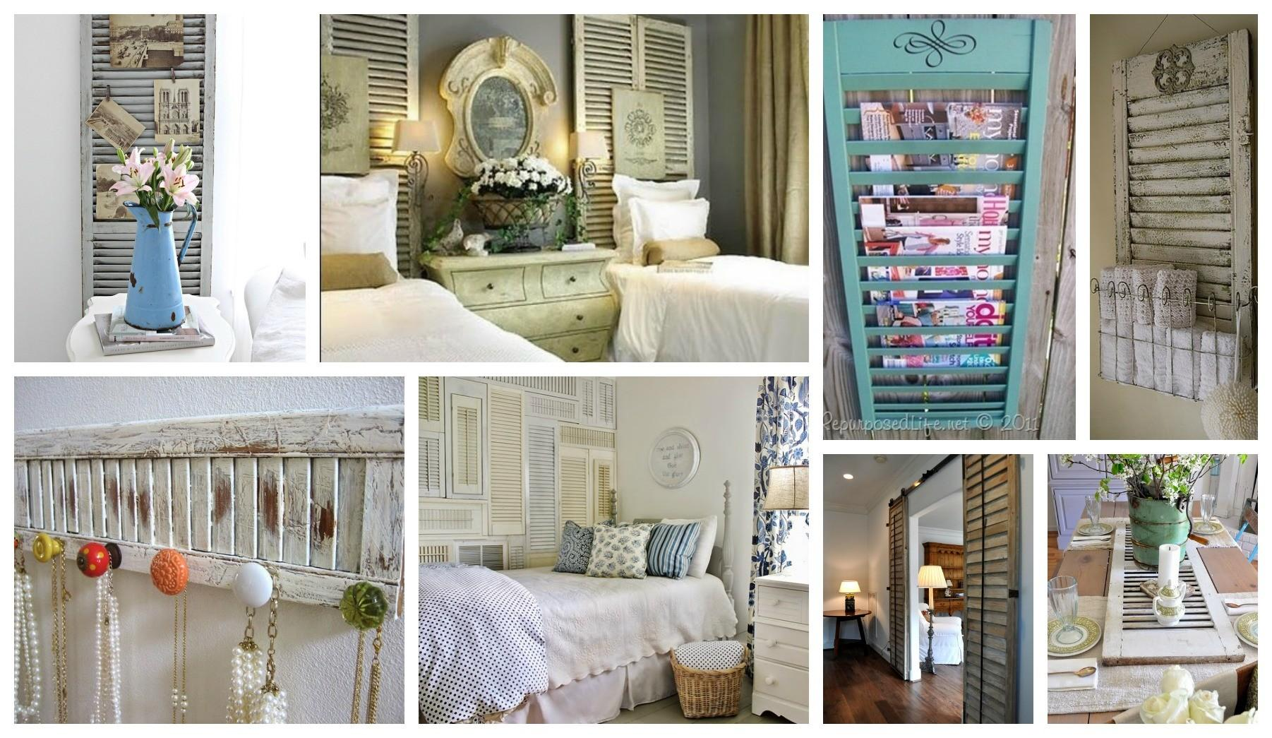 Stunning Ways Reuse Old Shutters Home Decor