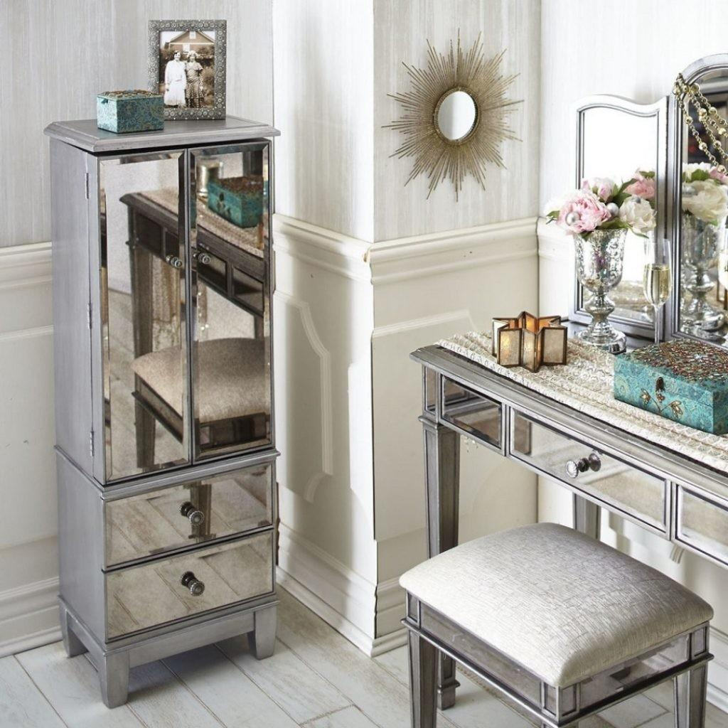 Stupefying Mirrored Desk Table Dresser Features