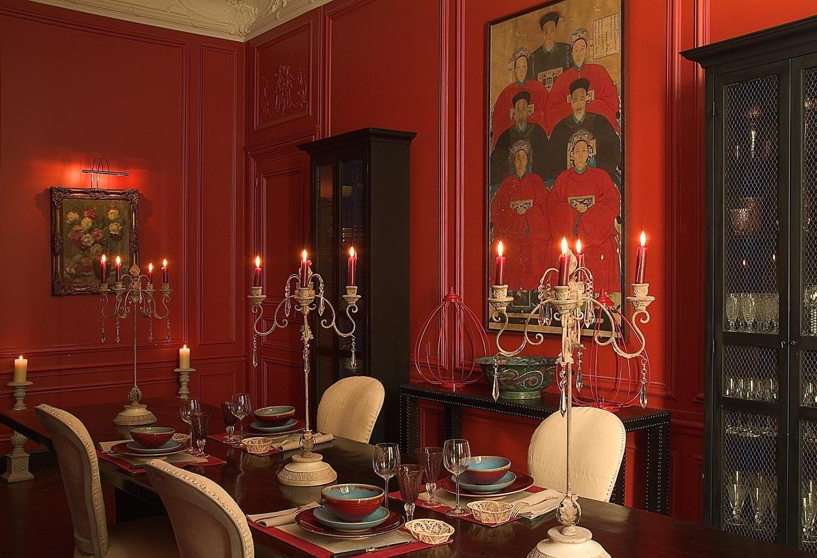 Style Abettor Red Dining Rooms