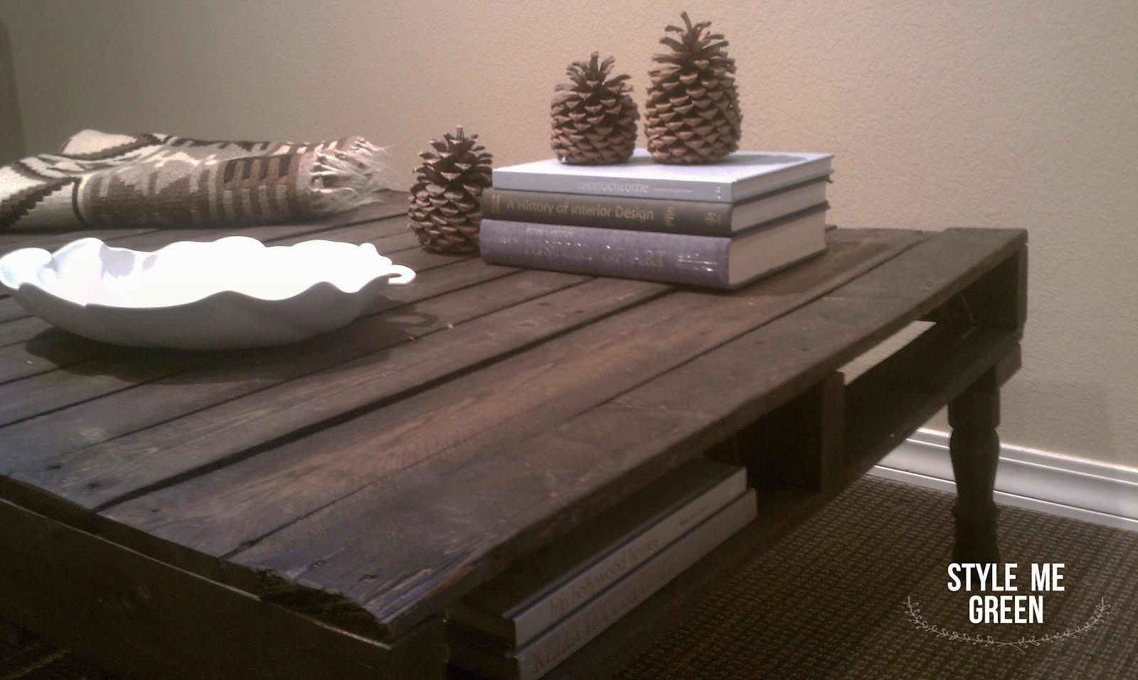 Style Green Diy Pallet Coffee Table