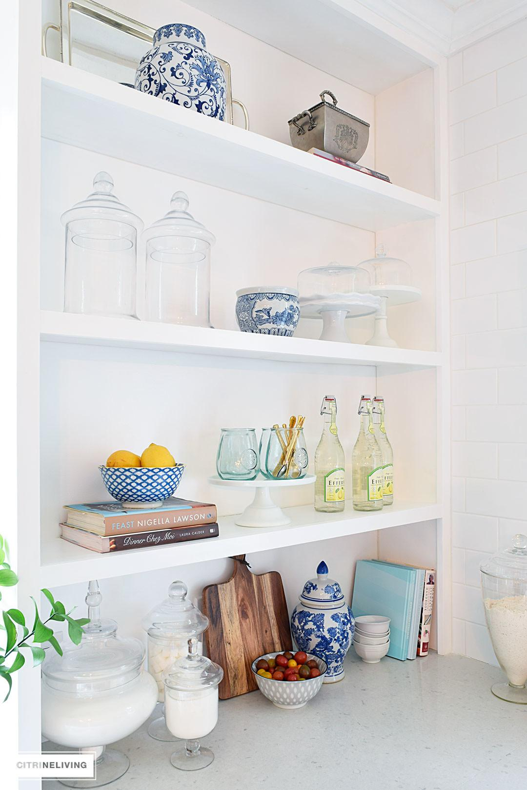 Style Open Kitchen Shelves Citrineliving