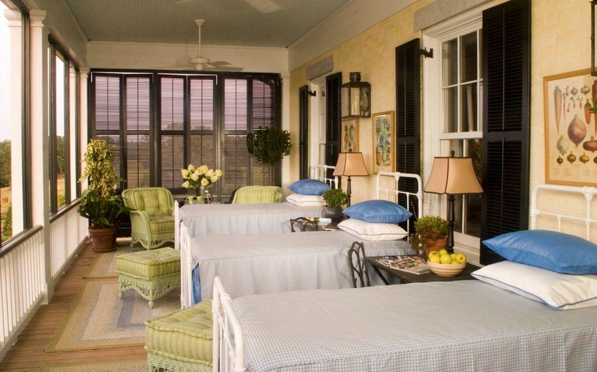 Style Sleeping Porch Colors Designs Accents