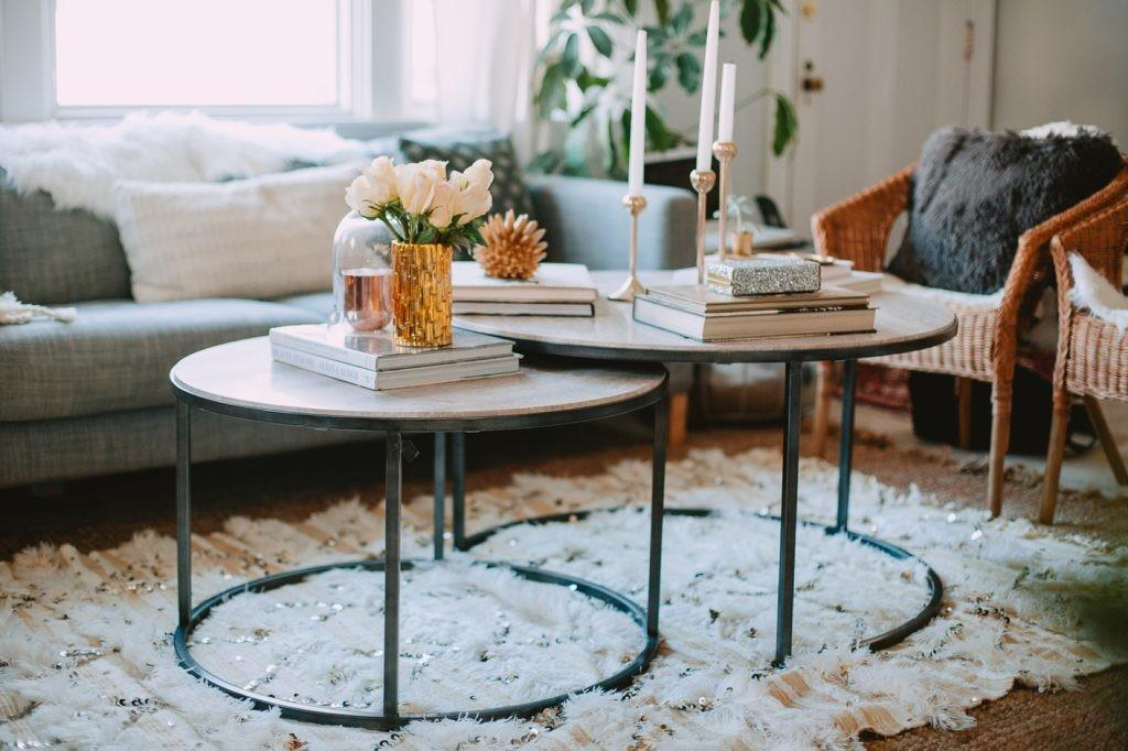 Styled Winter Glam Coffee Table Kate Ann Photography